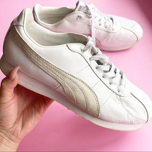 Retro puma leather sneakers